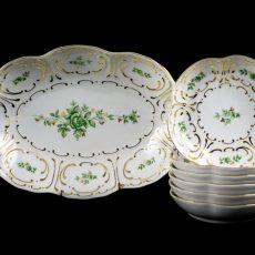 Hollóházi porcelán csemege készletek