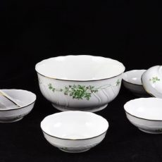 Hollóházi porcelán kompótos készletek
