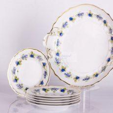 Hollóházi porcelán süteményes készletek