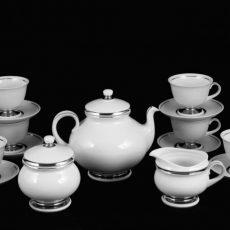 Hollóházi porcelán teás készletek